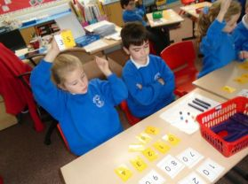 Primary three have been investigating how numbers are made.