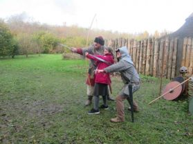 P6 visit the Navan Centre Armagh to study Vikings.