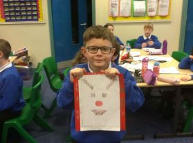 We completed our co-ordinates Christmas cards .