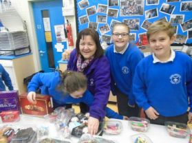 Mrs Creggan & P7 Fund raising day