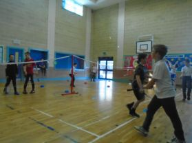 P6 Having great fun at Badminton