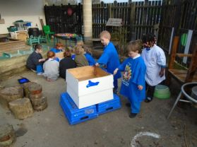Nursery decorate a beehive!