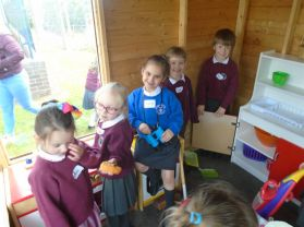 P1 Shared Education trip to Bush Primary School