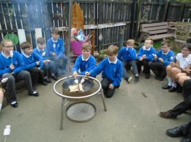 P.7 visit the nursery & enjoy a campfire.