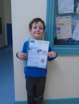 A Big Well Done to our P2 student.