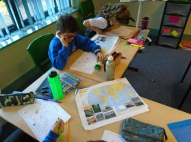 P5 have been busy reading and using World Maps