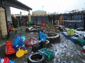 A Snowy Outdoor Day for Nursery.