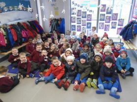 Nursery enjoy a Shared Education Visit to Bush over 2 days.