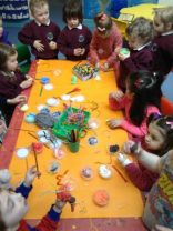 Nursery Shared Education Project - working with artist Fionnuala Duffin.