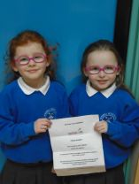 Well done to our two girls in P.1