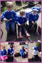 Nursery enjoy playing in the spring sunshine.